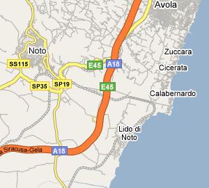 Cartina Noto Sicilia.Marina Di Noto